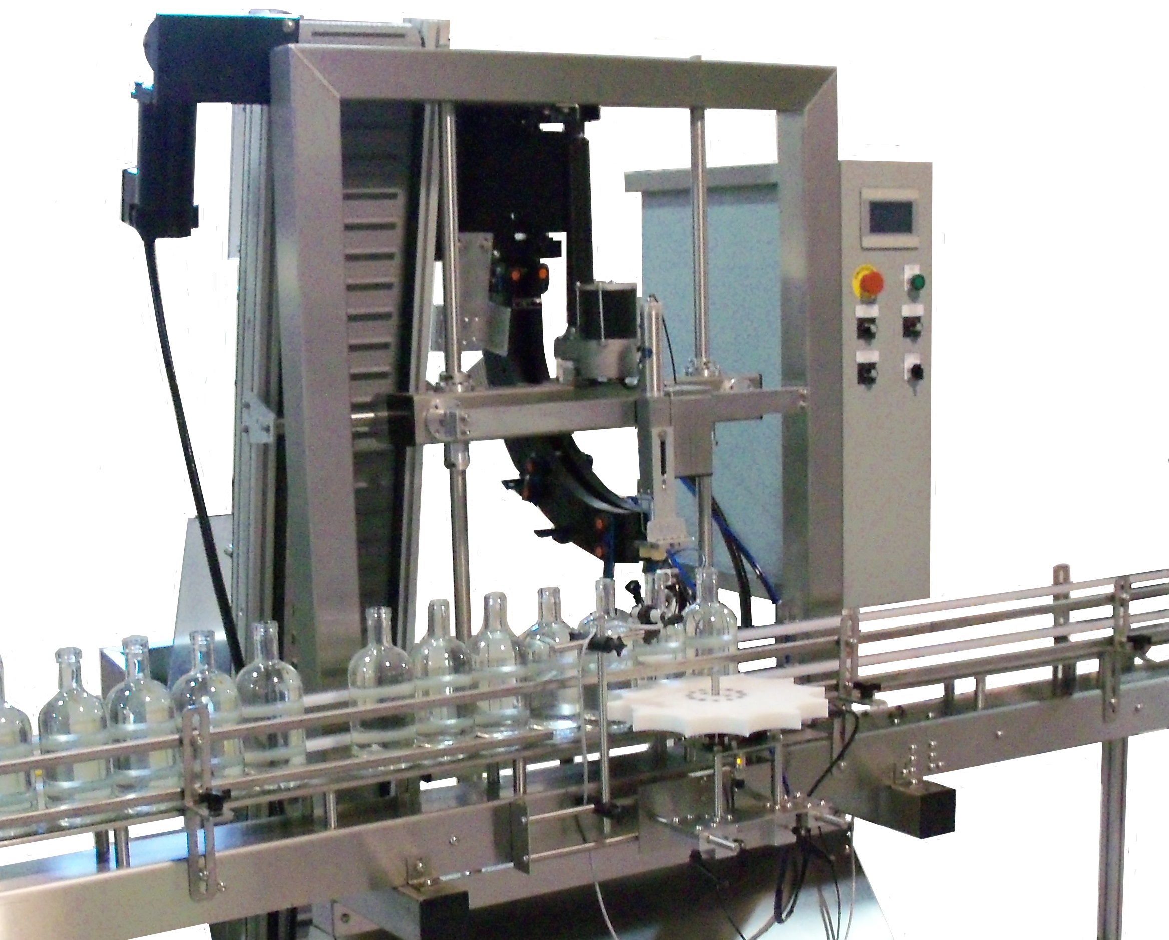 Automatic bottle corking machine from Liquid Packaging Solutions