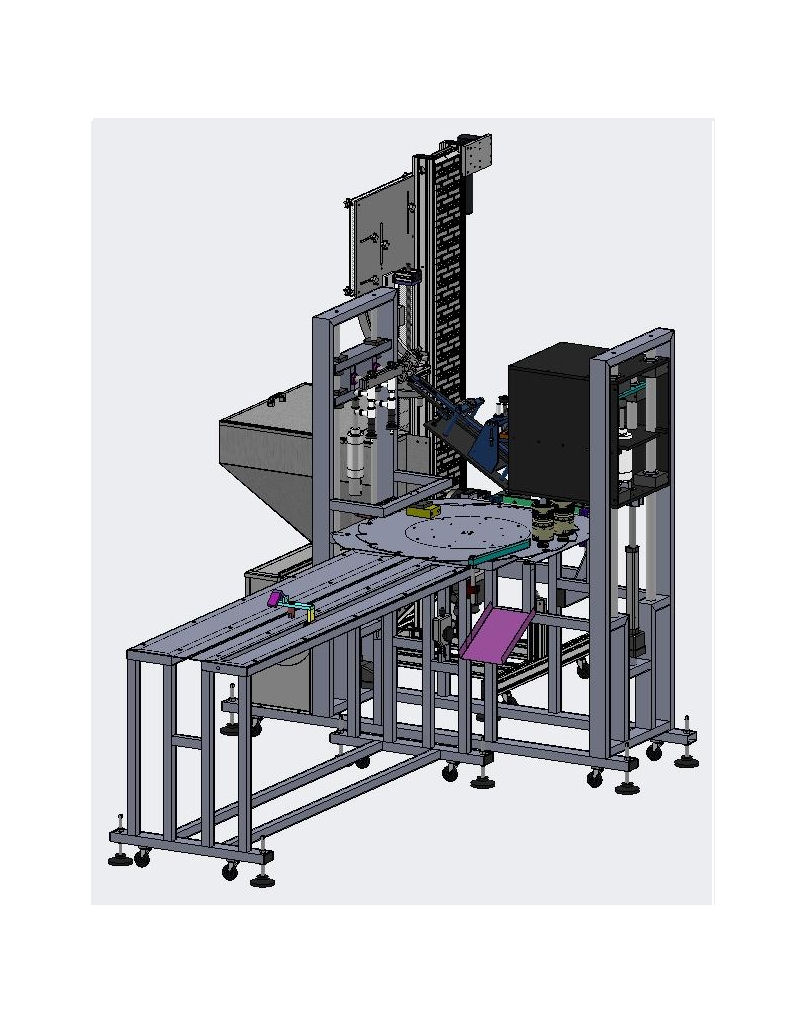 Filling Machine and Capping Machine Engineering Drawing