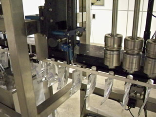 Production run of inline pouch filler and capping machine