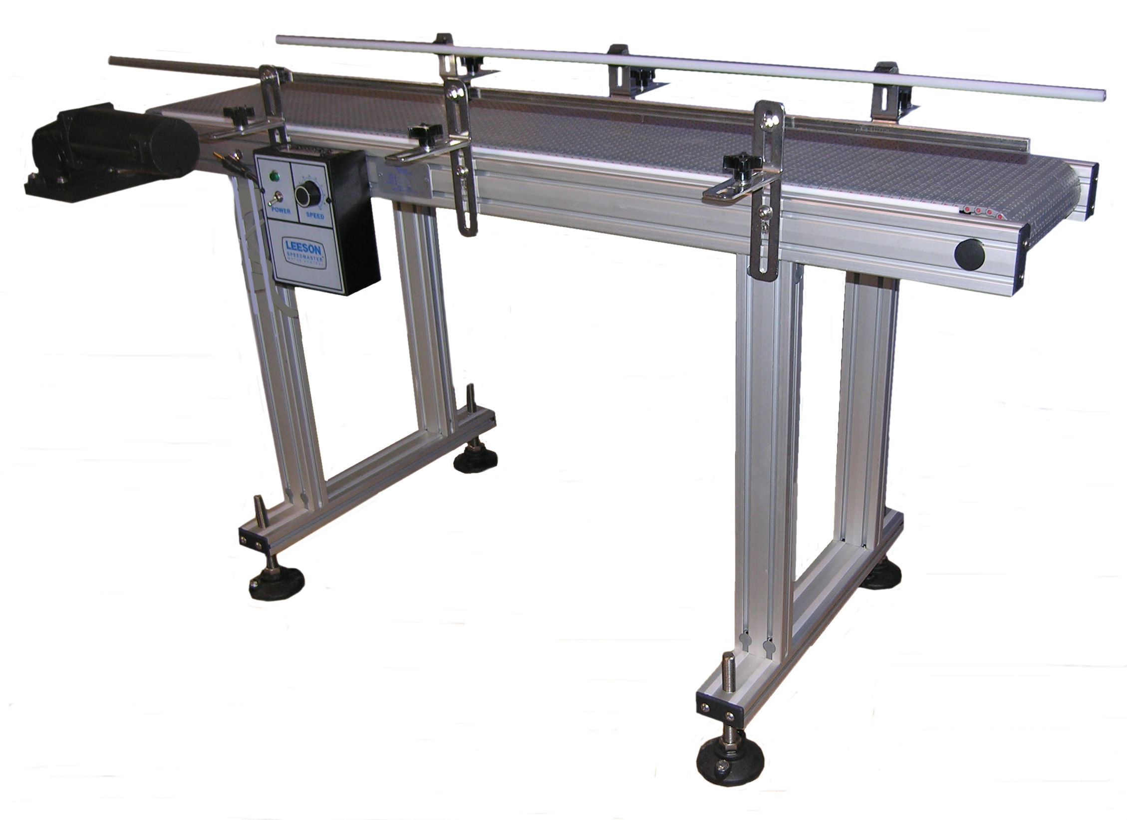 Power conveyors low profile anodized aluminum by liquid Motorized conveyor belt