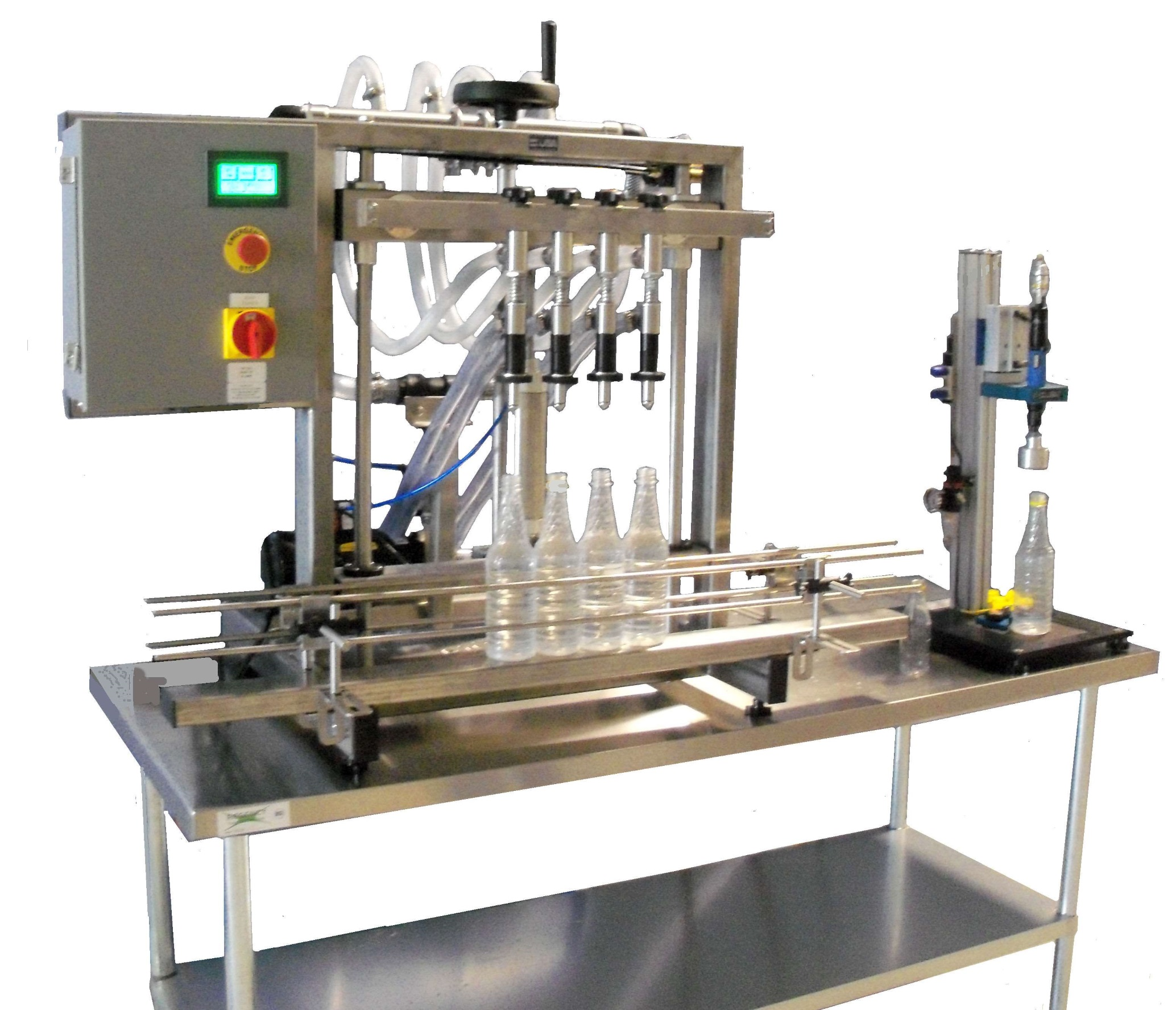 Tabletop Overflow Filling Machine with Chuck Capper from LPS